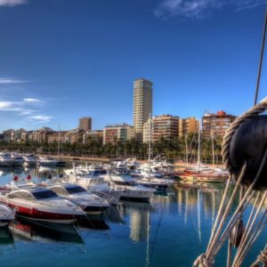 The large luxury residential area of ??Barcelona by the sea